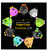 Wholesale Cheap Boy Toys Christmas - NEW Fidget Cube 2 Toys for Girl Boys Christmas Gift The First Batch of The Sale Best Christmas Gift Anti Stress Cube cheap price facotory