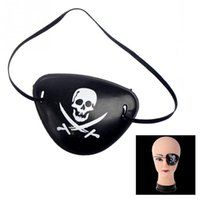 Wholesale Black Eyepatch - Wholesale- Pirate Eyepatch with Flexible Rope for Christmas Halloween Costume Kids Toy eye Patch Blindage accessories pirate One-eye Black