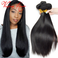 Kinky Straight Human Hair Weave 3 Bundles Lot Unprocessed Raw Indian Hair Weave Natural Black pode ser Dye Cheap Hair Weaves Extensions Sale