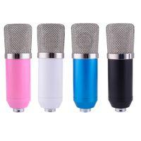 micrófonos rojos al por mayor-Microfone BM700 Condensador Micrófono con conexión de cable para Red de Computación cantar / Grabar / Chat / Video Conferencia / Juegos microfone condensador