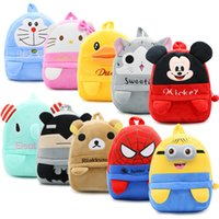 Wholesale Despicable Plush Backpack - 2017 Cartoon Kids Plush Backpacks Baby Middle Schoolbag 18 designs Kindergarten Backpack Cute Despicable Me Minions bag 3-5 years old