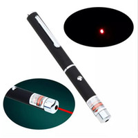 Wholesale Pen Shaped Led - High Quality 5mW Pen Shaped Single Point LED Red Laser light Beam Pointer for Work Teaching Training