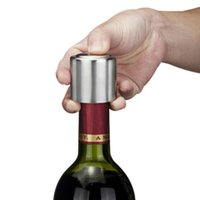 Wholesale Vacuum Wine Corks - Stainless Steel Vacuum Sealed Stopper Corks Pump Cork Sealer Red Wine Storage Bottle Stopper Preserver Plug Bottle Cap