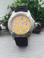 Wholesale Dhgate Dresses - DHgate selected store 2017 new luxury brand fashion watches men yellow dial rubber band watches colt automatic watch mens dress watches