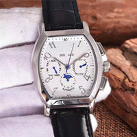 Wholesale Perpetual Luxury - New Listing High Quality Luxury Mens Watches Mechanical movement 5-pin perpetual calendar design 316L stainless steel case Luxury watches
