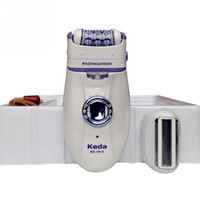 Wholesale Hair Removal Electric Trimmer - Brand New Rechargeable 2 IN 1 Automatic Female Electrical Epilator Women Face Bikini Hair Removal Trimmer Depilator Purple
