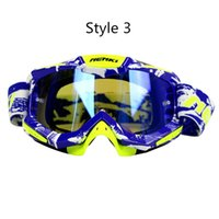 lentes de gafas individuales al por mayor-Motocross Goggles Motos Racing Gafas Esquí Snowboard Gafas Lente Colorido Unisex DH MTB Gafas Lente Individual