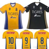8ac2f368893 Soccer Men Full Top Thai quality 17 18 Mexico soccer club Tigres UANL  Tigers Yellow home