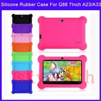 tableta android media q88 al por mayor-Multi-color Anti Dust Kids Child Soft Gel de silicona cubierta de la caja del gel para 7