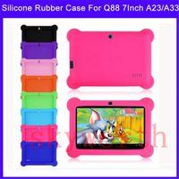 caixa de silicone para android q88 venda por atacado-Multi-cor anti poeira crianças criança borracha gel de silicone macio case capa para 7