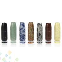 jade retorcido al por mayor-Nuevo Diseño E-Cig Jade Bullet Boca Drip Tips con Natural Jade Fit 510 Atomizadores para EGO T EGO VV EGO Twist Electronic Cigarette