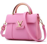 Wholesale Cheap Women Bag Fashion - designer handbags cheap luxury ladies leather clutches bags for women handbag Red Black Pink Free Shipping
