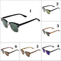 Wholesale 6 Colors Men Women Sunglasses Full Frame Fashion Glasses Lens Lightweight Cycling Sunglasses Men Eyewears Cheap Brand Sunglasses