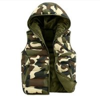 Wholesale Spring Women S Down Jacket - Mens & women spring autumn clothing fashion casual vest men camouflage vests men down sleeveless jacket waistcoat