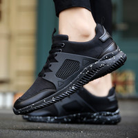 Wholesale Ventilated Men Casual Shoes - 2017 Supper Hot Ventilate Mesh Casual Shoes for Male Fashion Lace Up Zapatillas Deportivas Mens Footwear Free Shipping YonDream-449