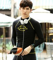 Wholesale Dry Suit Dive - free shipping 2017 quick dry diving suits male long sleeves sun diving swimsuit jellyfish snorkeling surf suit swimsuit