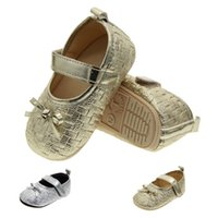 Wholesale Toddlers Shoes Manufacturers - Foreign trade the original single soft rubber wear bowknot baby shoes manufacturer wholesale princess baby toddler us size 1 2 3 dn290