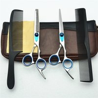 Barato Melhores Tesouras De Desbaste-4Pcs Suit 6 '' Customized Brand BEST Professional Hair Hair Scissors Cabeleireiro Tesoura Cutting Shears + Thinning Scissors + Combs C1003