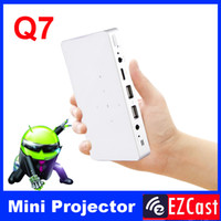 Wholesale Android Tablet Phone Battery - Wholesale-pico pocket battery 200ANSI mini micro Portable android 4.2 DLNA Miracast HD 3LED DLP video projector for Android phone tablet