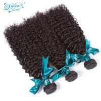 ingrosso tessuti di sconto tessuto-Vendita promozione 8A peruviana vergine capelli crespi ricci 3 pezzo tessuto fasce 100% estensioni dei capelli umani ricci stile onda in vendita sconto