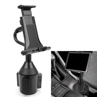 """Wholesale Cup Holder Car Tablet - Wholesale- Adjustable Car Cup Holder Mount for 7""""-10"""" Tablet Apple iPad Mini Samsung Galaxy"""