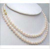"Wholesale Japanese Akoya White Pearl Necklace - GENUINE 8-9MM AAA WHITE JAPANESE AKOYA PEARL NECKLACE 35"" 14k + GIFT EARRING"