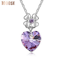 Wholesale East Dance - 2017 new A genuine using SWAROVSKI Elements Crystal Necklace - dancing heart high-end jewelry wholesalesale