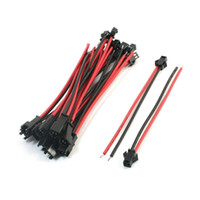 Wholesale Jst Cable - Black Red 13cm JST SM 2 Pins Jack Male to Female Wire Cable LED Strip Light Connector