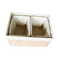 Wholesale Wholesale Wood Straws - 3pcs  1 set Handcraft Eco-friendly Straw Woven Storage Basket with Handle Rectangular Bins Book Clothes Storage container