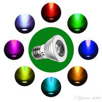 ingrosso riflettore 12v ir-Lampadina a LED a risparmio energetico 5W RGB GU10 / E27 / MR16 / E14 LED Lampadina che cambia colore Riflettore con telecomando IR