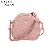 Wholesale Shell Barrel - Wholesale- Mara's Dream 2017 Handbag Phone Purse Women Small Bag Imperial Crown PU Leather Women Shoulder Bag Small Shell Crossbody Bag