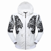 Wholesale Skull Hooded - Pp New Mens coat Fashion Skull Horse Printed Fitness Men Hooded jacket Camisetas Swag Medusa man's pP jacket Casual Coat size M-3XL