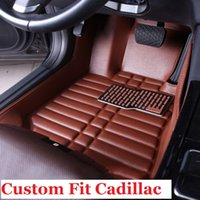 Wholesale Carpet Liner - Leather for Custom fit car floor mats for Cadillac ATS CTS XTS SLS Escalade 3D car styling all weather carpets 3D Non-silp floor liner