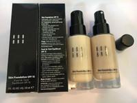 Wholesale Foundation Sand - Bob brown Skin Foundation Liquid bb cream concealer 30ml porcelain warm ivory sand 12pcs color dhl ship