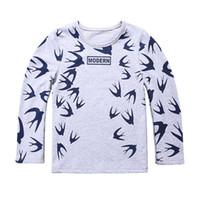 Wholesale T Shirt Teen Boy - 2017 Fashion Kids T shirt Boys Long Sleeve T-shirt Children Teen Clothes Cotton Tees Tops
