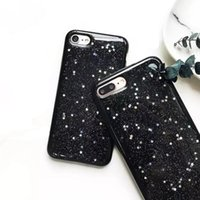 Wholesale Iphone Case Bling Starry - Glitter Bling Star Case Soft TPU Full Cover Black Starry Sky Smooth Case For iphone 7 6 6s plus OPP BAG