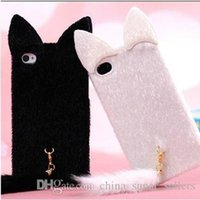 Wholesale Pink Cat Tail - 2017 new i6S plus cat ear plush phone case i6 plus plush cat tail phone case