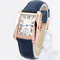 Wholesale Casual Female Fashion - Classic brand new mode Fashion lady watches women watch Rose Stainless Steel Genuine leather Wristwatches female Luxury clock free shipping