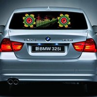 Wholesale Equalizer Sound Activated Flashing - Led Car Stickers 90cm x 25cm Sound Music Activated EL Car Stickers Equalizer Glow Flash Led Light Car Music Rhythm Light 18 Different