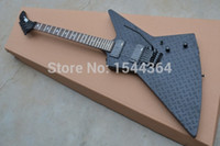 Wholesale Mahogany Finish - New! E&P - Wholesale and Retail Explorer electric guitar Artistic beautyblack with satin black black ardware finished!