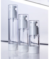 Wholesale Clear Plastic Lotion Bottles - 15ml 30ml 50ml Cream Airless Bottle Clear AS Plastic Lotion Sub-bottling With Vacuum Pump Serum Bottle Sample Divide Bottle
