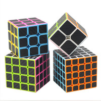 Wholesale Carbon Fiber Cube - Neo Carbon Fiber Cube Puzzle Game Toy Magic Cube Speed Square Brinquedo Deformation Cubos Magicos Puzzles For Children 50D0218