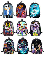 Wholesale Grey Silk Bag - Wholesale- New Undertale Backpack Sans And Papyrus School Backpacks Boys Girls Bag Children School Bags Undertale Schoolbags Kids Gift Bag