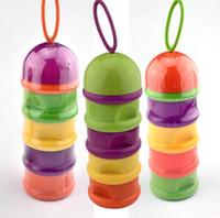 Wholesale Milk Bottle Glasses Wholesale - Baby necessary useful detachable moistureproof feeding-bottle four layers milk box bottles 2 pcs lot mix