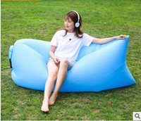 Wholesale Camping lazy bag inflatable air sofa laybag sleeping bag adult beds air lounge chair Fast Inflatable nylon air sofa