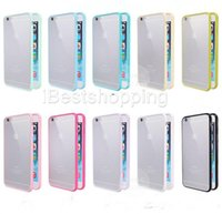 Wholesale Gel S4 - Mat PC+TPU Soft Clear Transparent Gel Cover Cases For Iphone6 6 6s plus 5 5S Galaxy S6 S5 S4