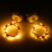 Wholesale String Tea Light - Magicnight Submersible Tea Lights 20 Leds Fairy String lights 7 ft Copper Wire,Set of 2 Warm White Color