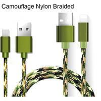 carregador de camuflagem venda por atacado-Galvanoplastia de metal camuflagem micro usb cabo de carregamento rápido do telefone móvel Andriod cabo 1 m cabo de dados usb carregador para samsung htc lg