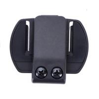 Wholesale Bluetooth V4 - Wholesale- V6 Clip Bracket Suitable for Motorcycle BT bluetooth multi interphone headset helmet intercom for V6 V4 V2-500C