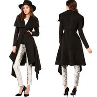 Wholesale The Autumn Winter New Ladies Casual Slim Long Sleeved Coat Swallowtail Coat